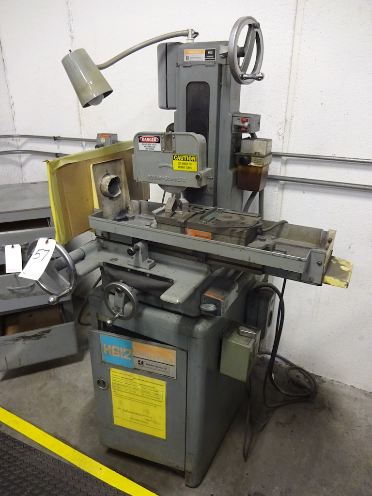 Lot 57 - Boyar Schultz 6 in. x 12 in. Model H612 Hand Feed Surface Grinder, S/N 23811, LBP Fineline