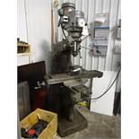 Bridgeport 1-1/2 HP Variable Speed V-Ram Vertical Milling Machine, S/N 12/BR168282, 9 in. x 42 in.