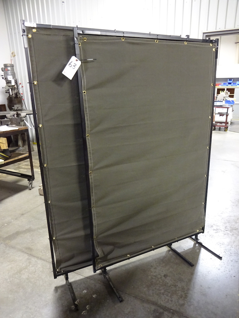 Lot 63 - LOT: (2) 47 in. x 70 in. Welding Screens