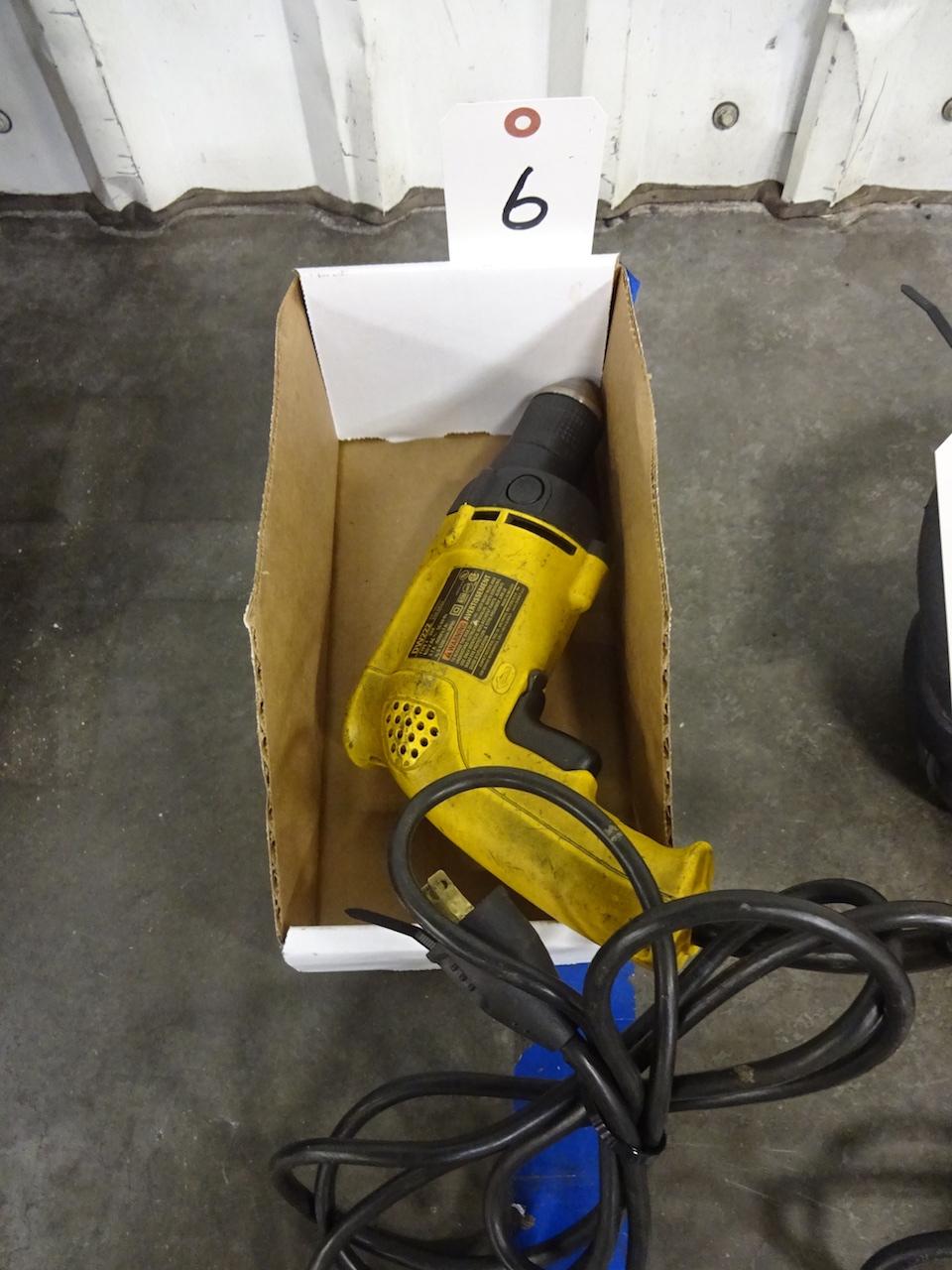 Lot 6 - Dewalt 3/8 in. Model DW222 VSR Electric Drill