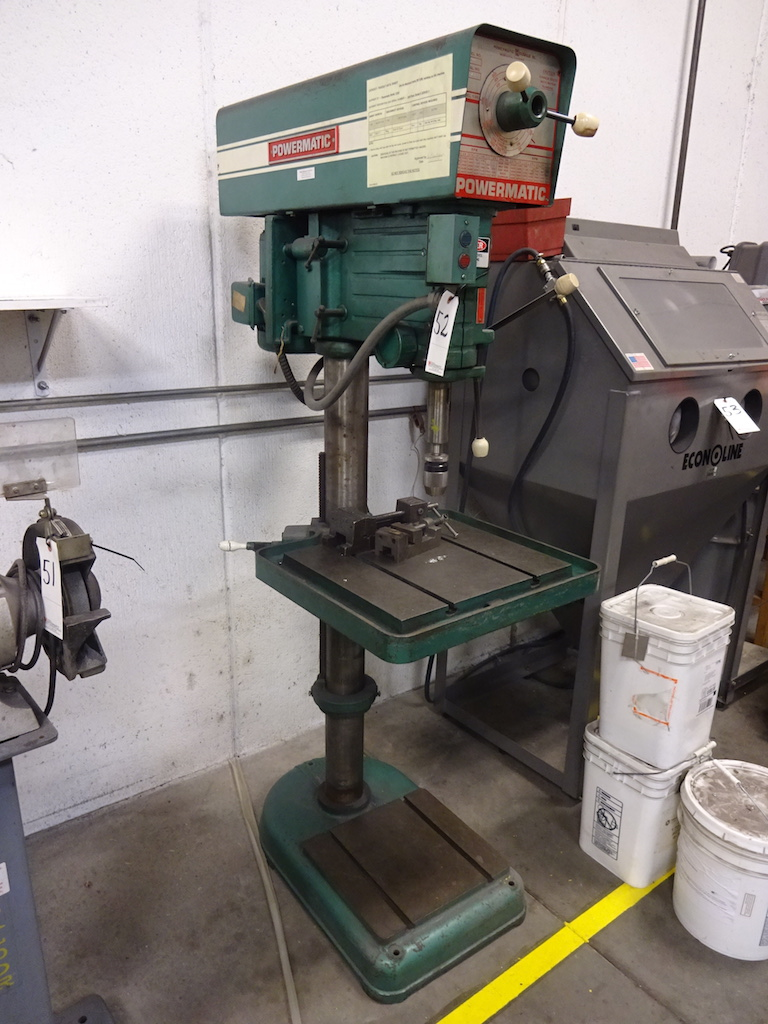 Lot 52 - Powermatic 20 in. Model 1200 Variable Speed Drill Press, S/N 320V811, 18 in. x 15-1/2 in. Adjustable
