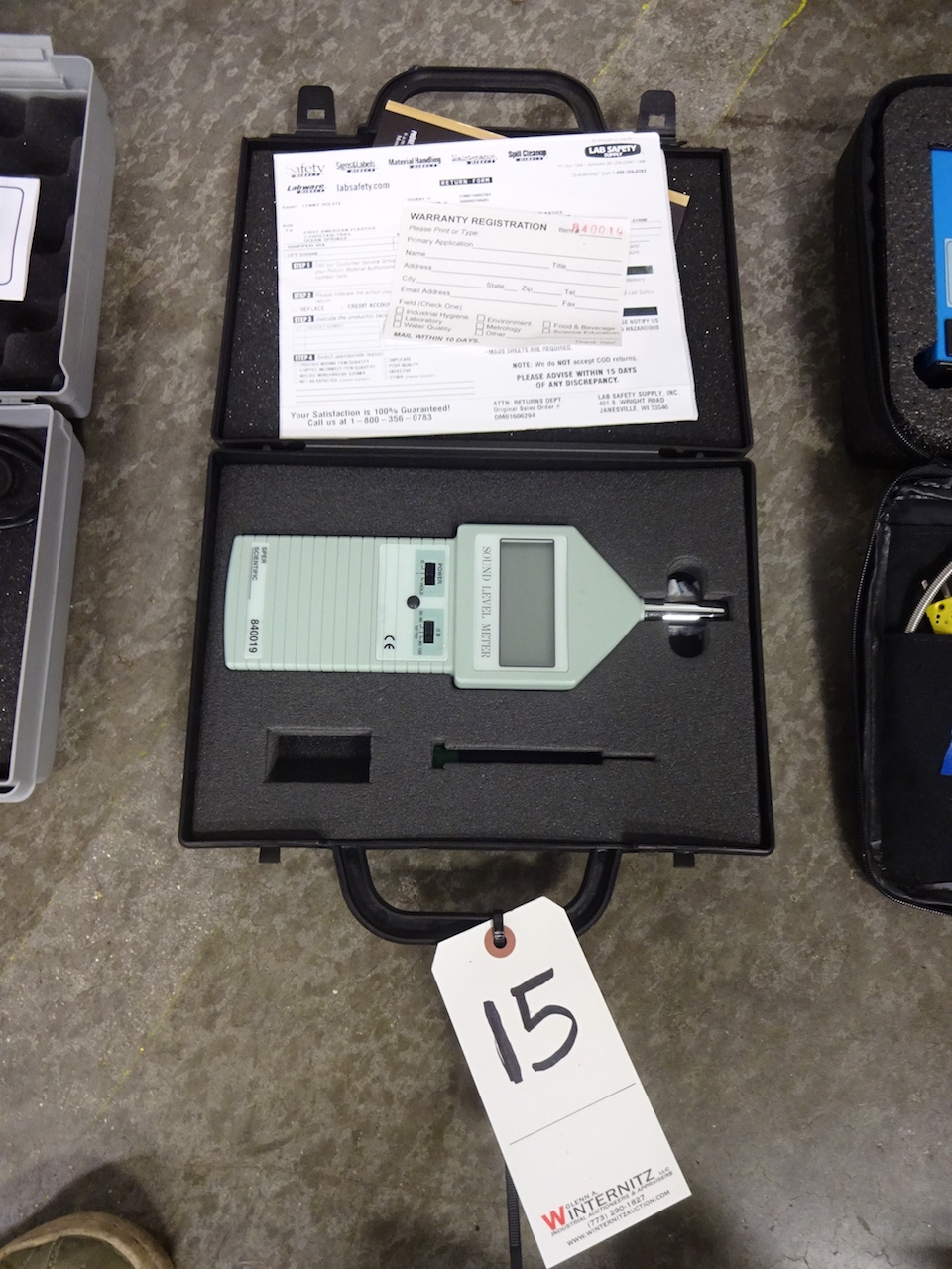 Lot 15 - SPER Scientific Model 840019 Sound Level Meter