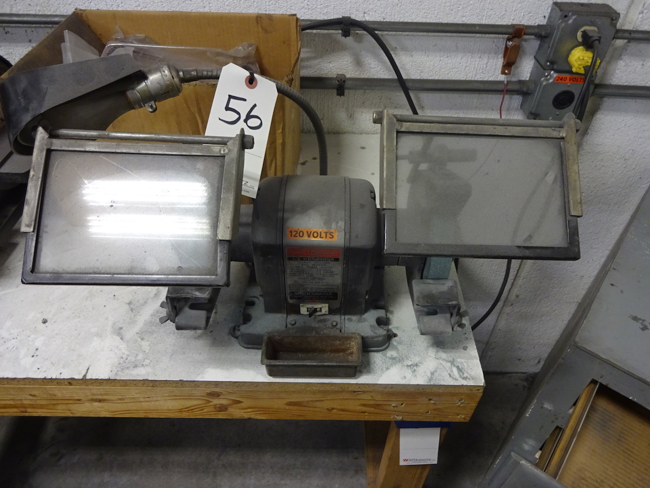 Lot 56 - Sears Craftsman 1/3 HP Double End Bench Grinder