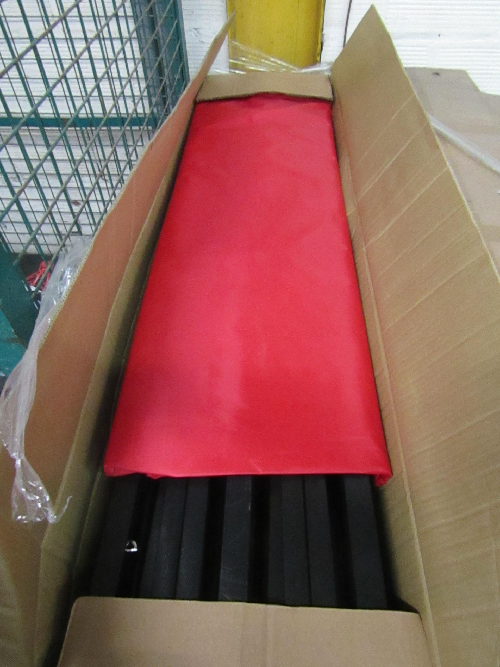 Lot 59 - 6 m x 3 m pop up gazebo with red cover, new and boxed