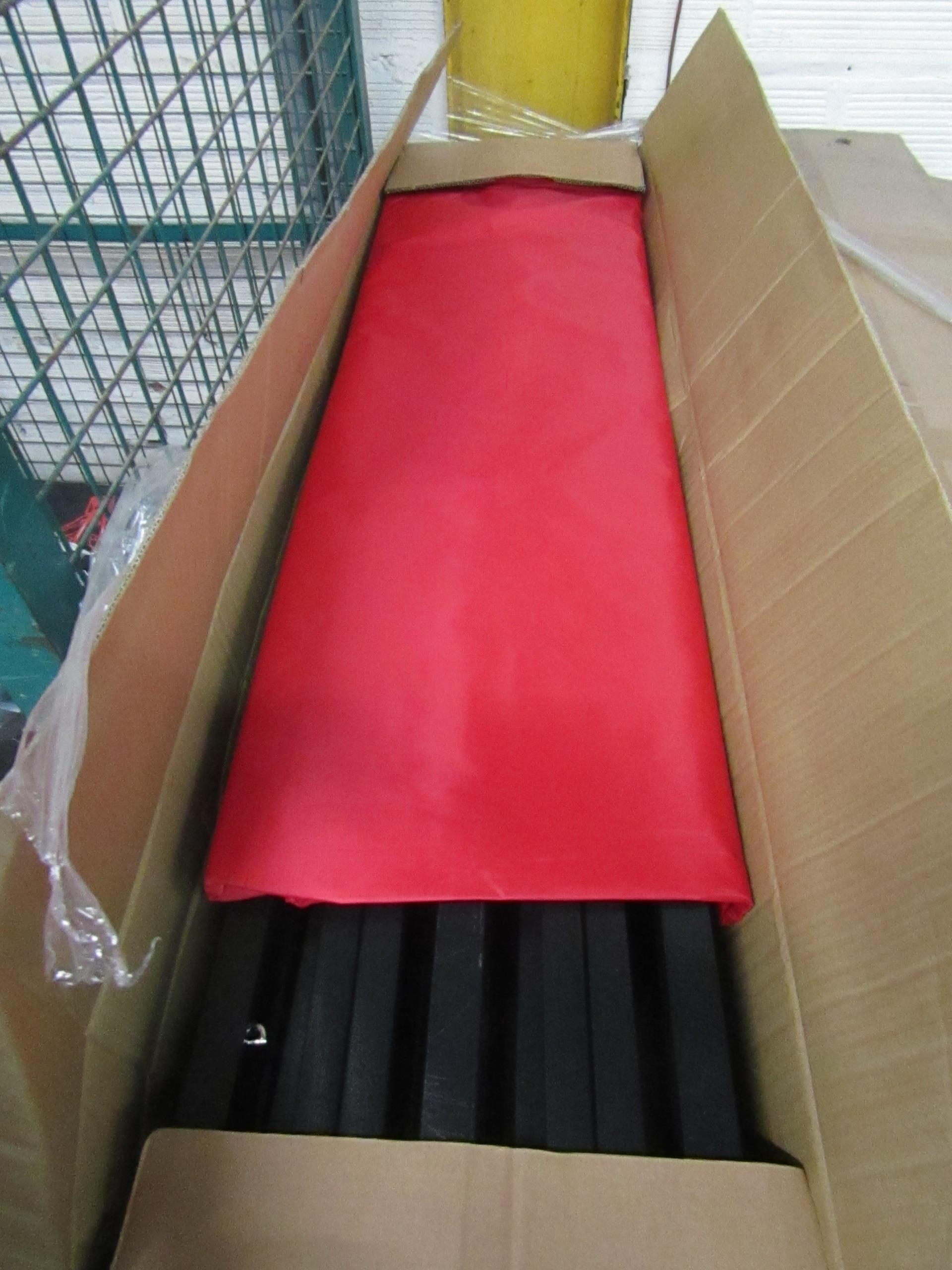 Lot 60 - 6 m x 3 m pop up gazebo with red cover, new and boxed