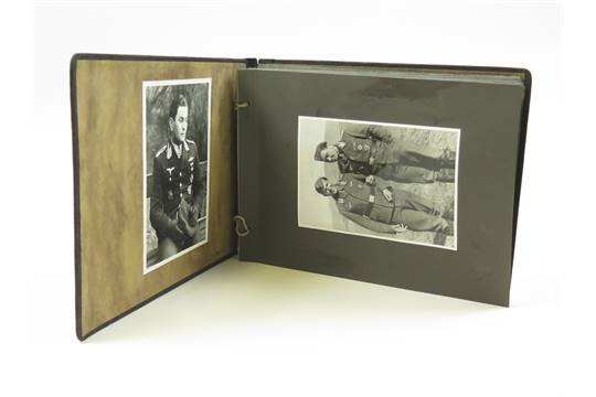 German WW2 Luftwaffe photo album for Leopold Steinbatz Me109