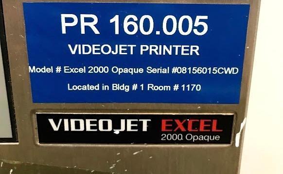 Lot 104 - Video Jet Printer