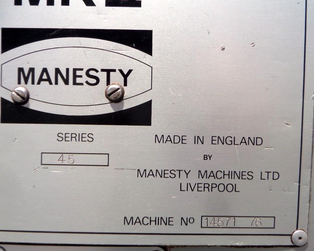 Lot 98 - Manesty Mark II Rotapress