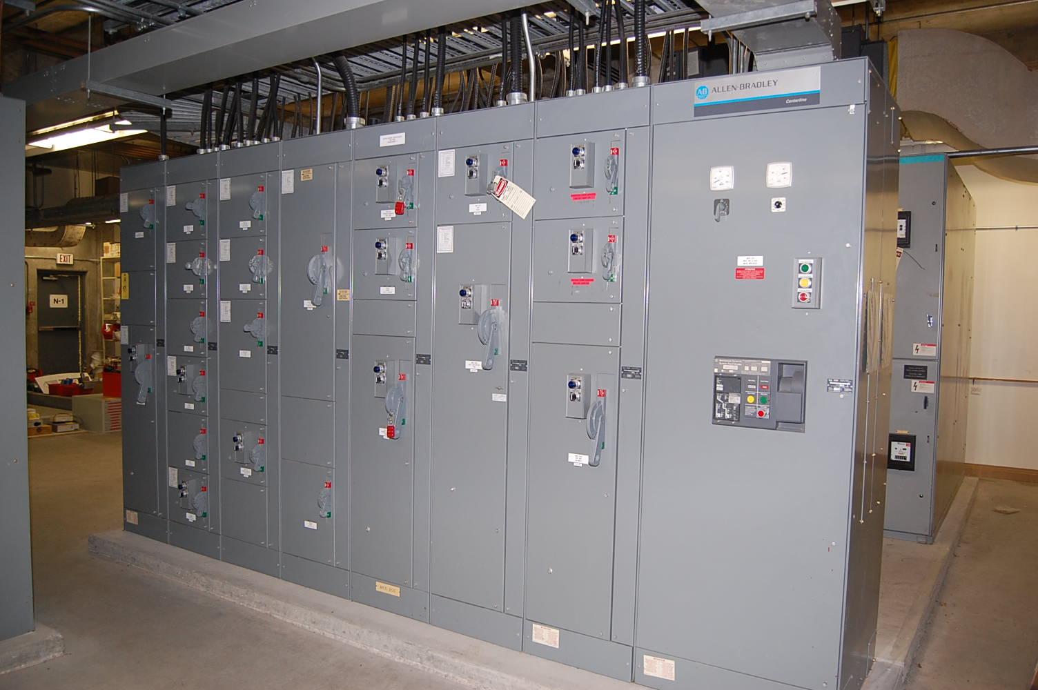 Allen Bradley Centerline Motor Control Center  Fed From