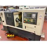 "2006 HWACHEON HI TECH 200AI CNC TURNING CENTER, FANUC O1-TC CNC CONTROL, 8"" KITAGAWA 3-JAW CHUCK,"