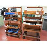 LOT - (2) CARTS, W/ (4) REMOVABLE SHELF-BINS, CONTENTS NOT INCLUDED