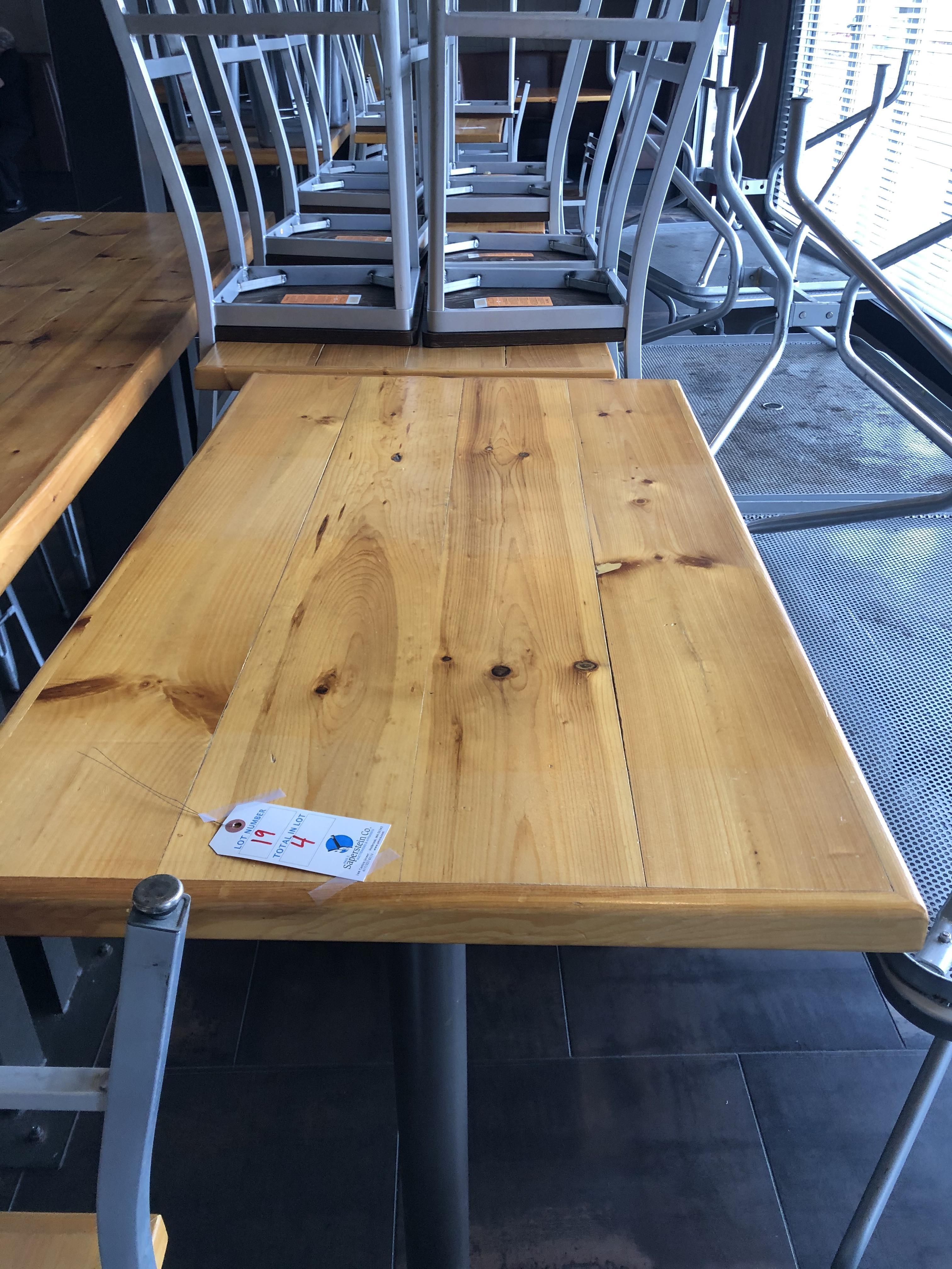 """(4) 42""""L x 28.5""""W x 42""""H Double Pedestal Tables"""