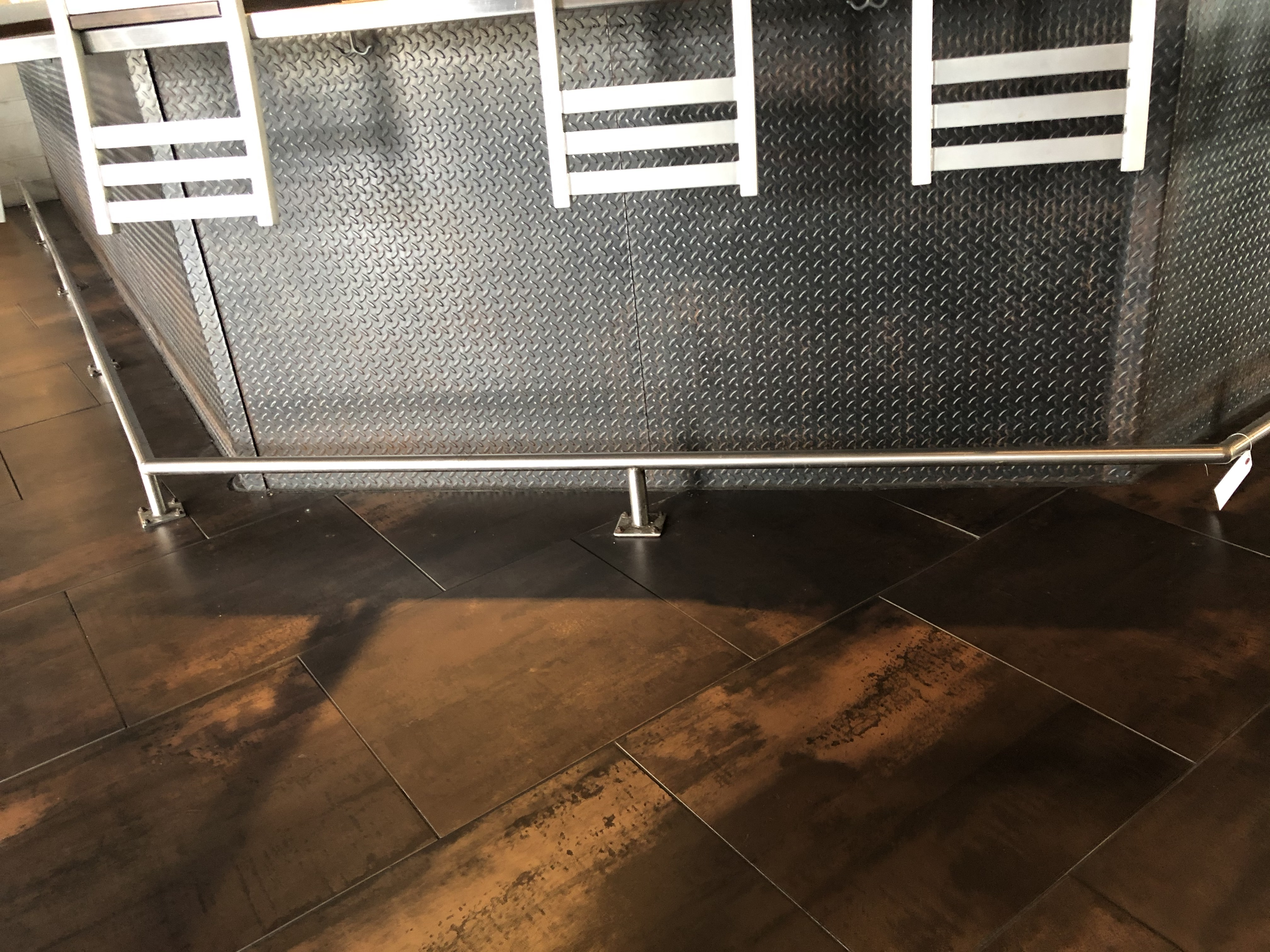 56' Total of Stainless Steel Footrail On The Base of the Bar (To Be Removed By Purchaser As are - Image 3 of 3