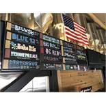 8' x 3' 20 Slot Velcro Backed Sign Board