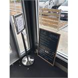 {LOT} Hostess Stand & Sign Board