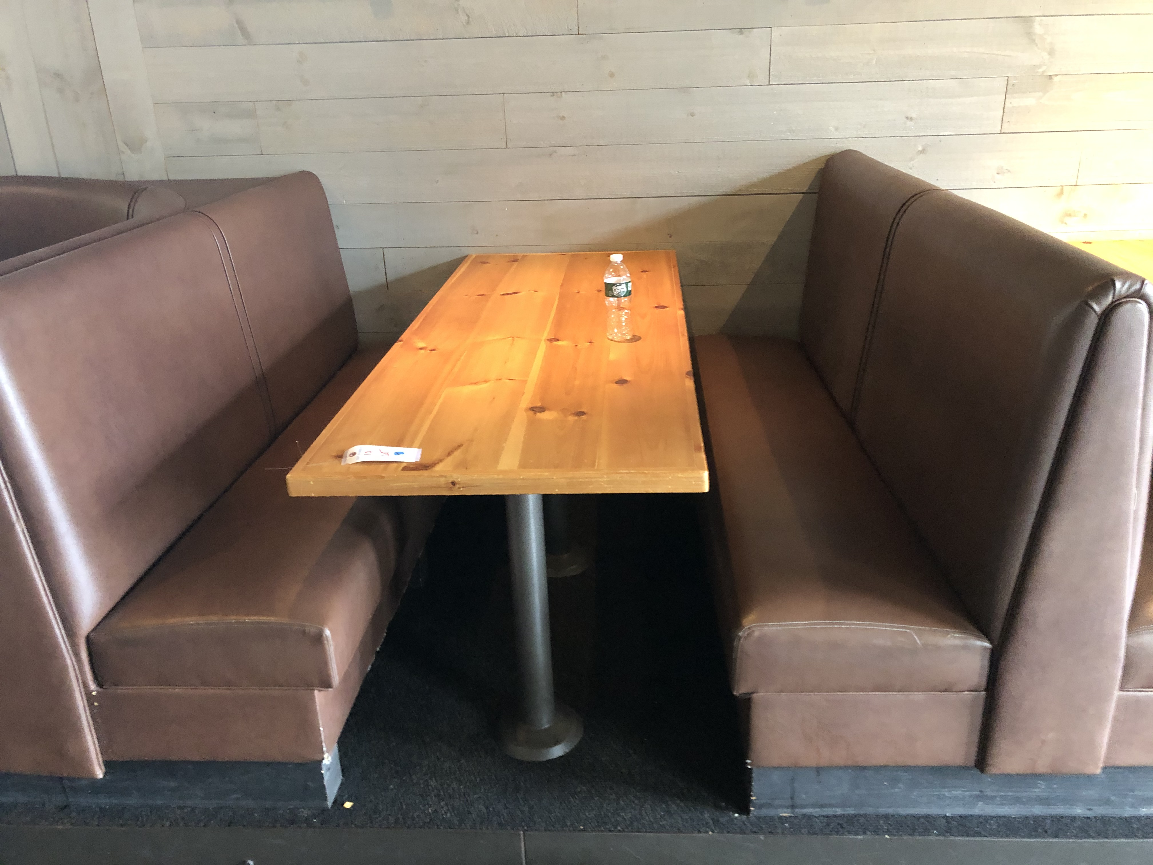 {LOT} (4) Complete Booth Setups c/o: (2) Fully Upholstered U-Shaped 7' x 6' Booths w/Double Pedestal - Image 4 of 4