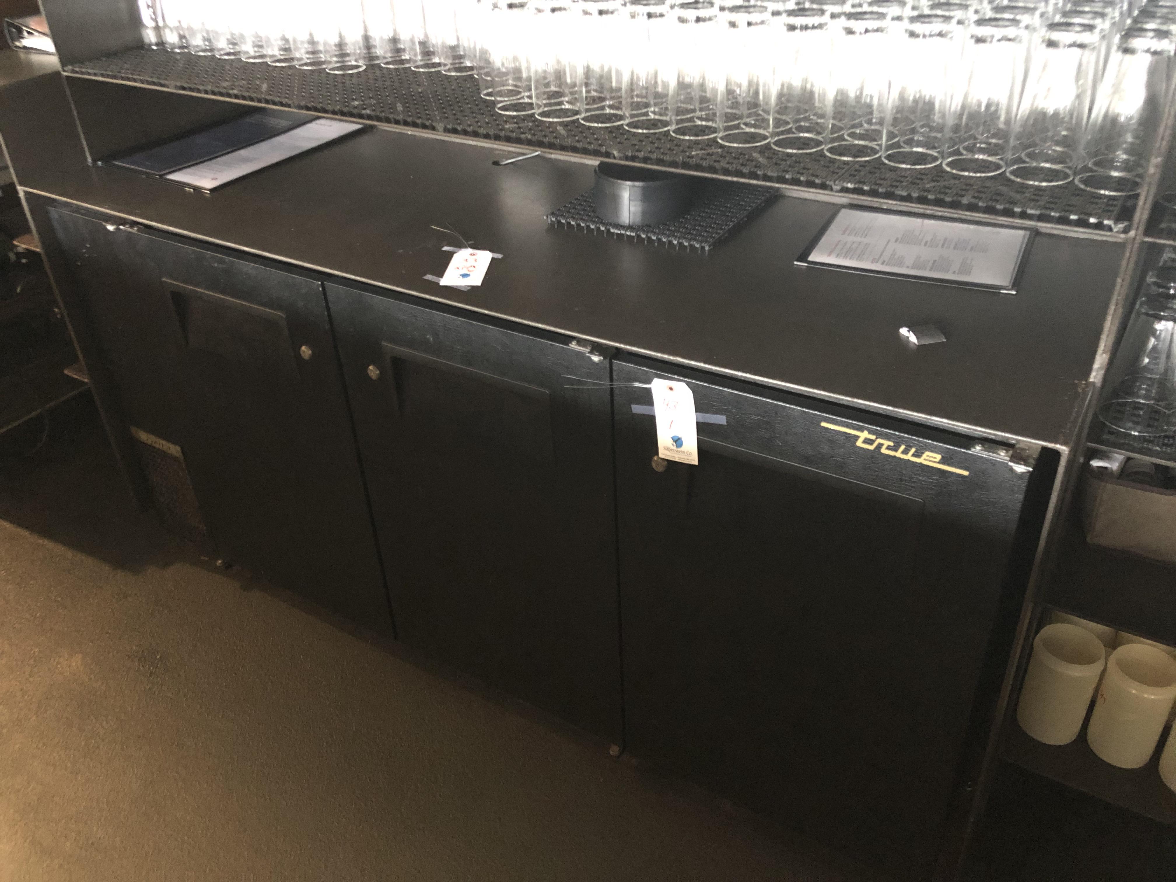 """True #TBB-24GAL-72 72"""" 3 Door SS/SC Back Bar Refrigerated Base Unit"""
