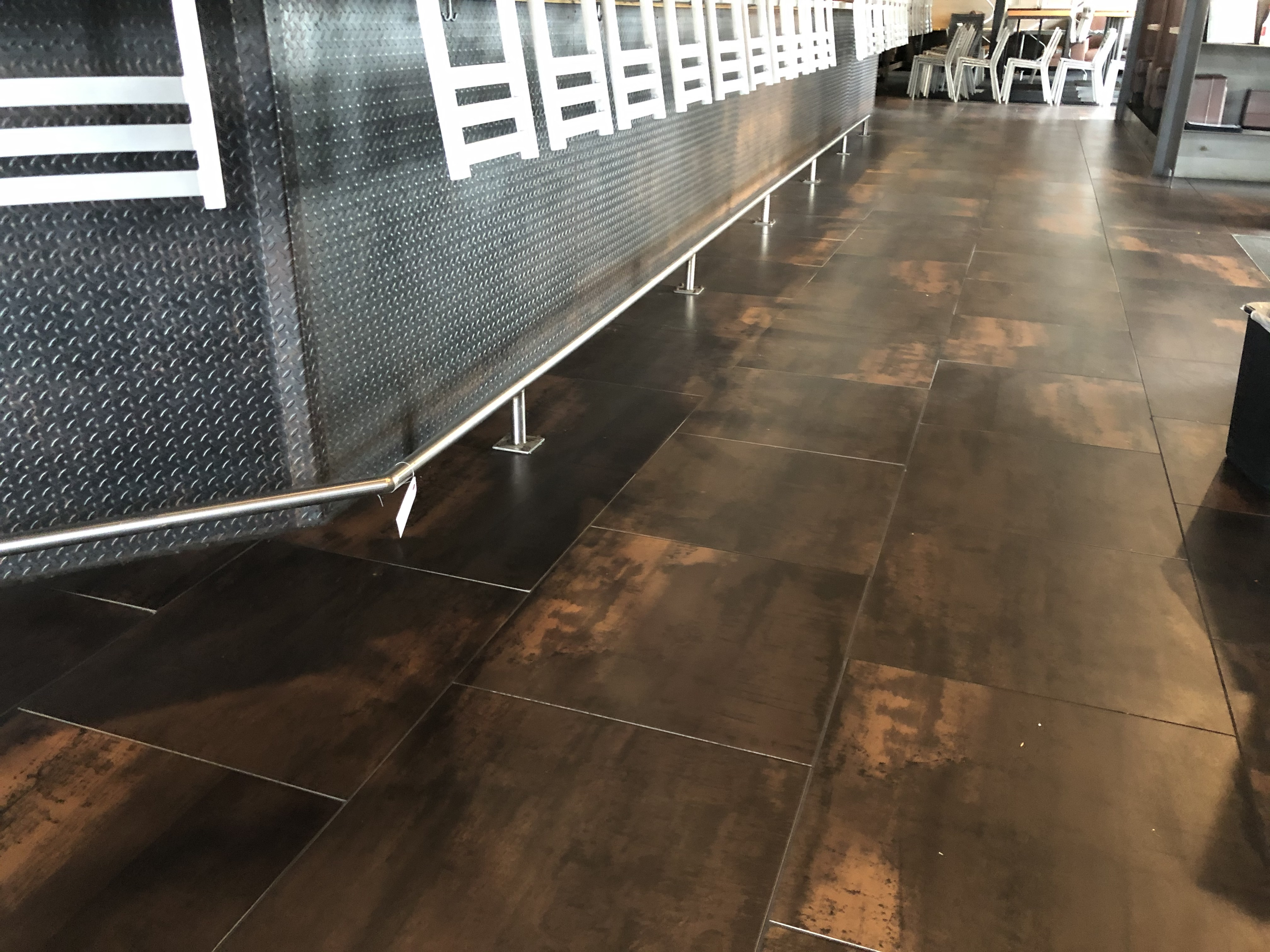 56' Total of Stainless Steel Footrail On The Base of the Bar (To Be Removed By Purchaser As are - Image 2 of 3