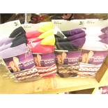12 X Pairs of Ladies Design Socks size 4-7 new in packaging (see image for design)