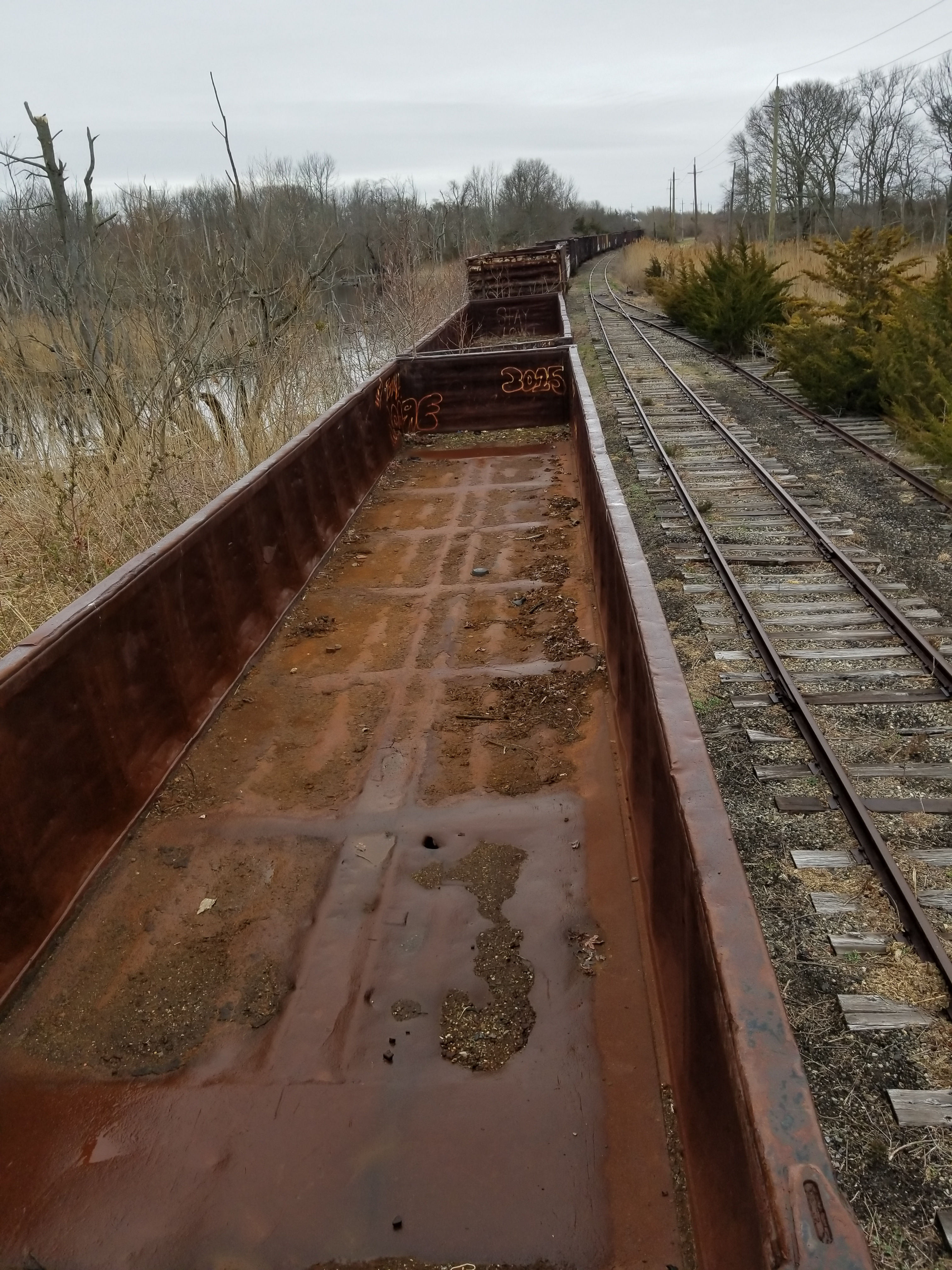 Lot 4 - LOT 4 - (X 3) EQUIPPED LOW SIDED GONDOLA RAIL CARS (CAPE MAY, NJ) (4-1) SRXX 2014 EQUIPPED LOW-SIDED