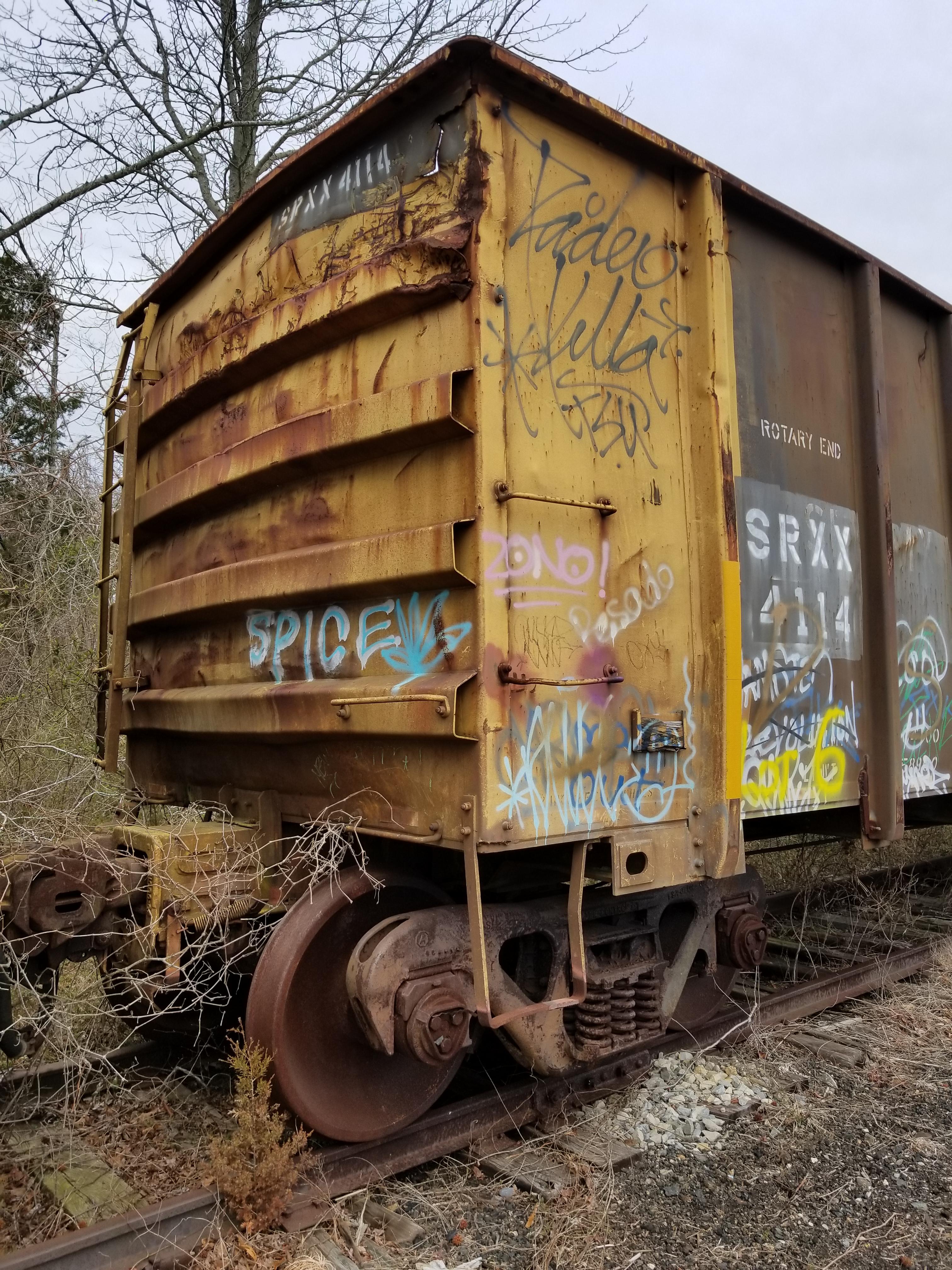 Lot 6 - LOT 6 - (X 4) HIGH-SIDED GONDOLA RAIL CARS (CAPE MAY, NJ) (6-1) SRXX 4304 HIGH-SIDED GONDOLA RAIL