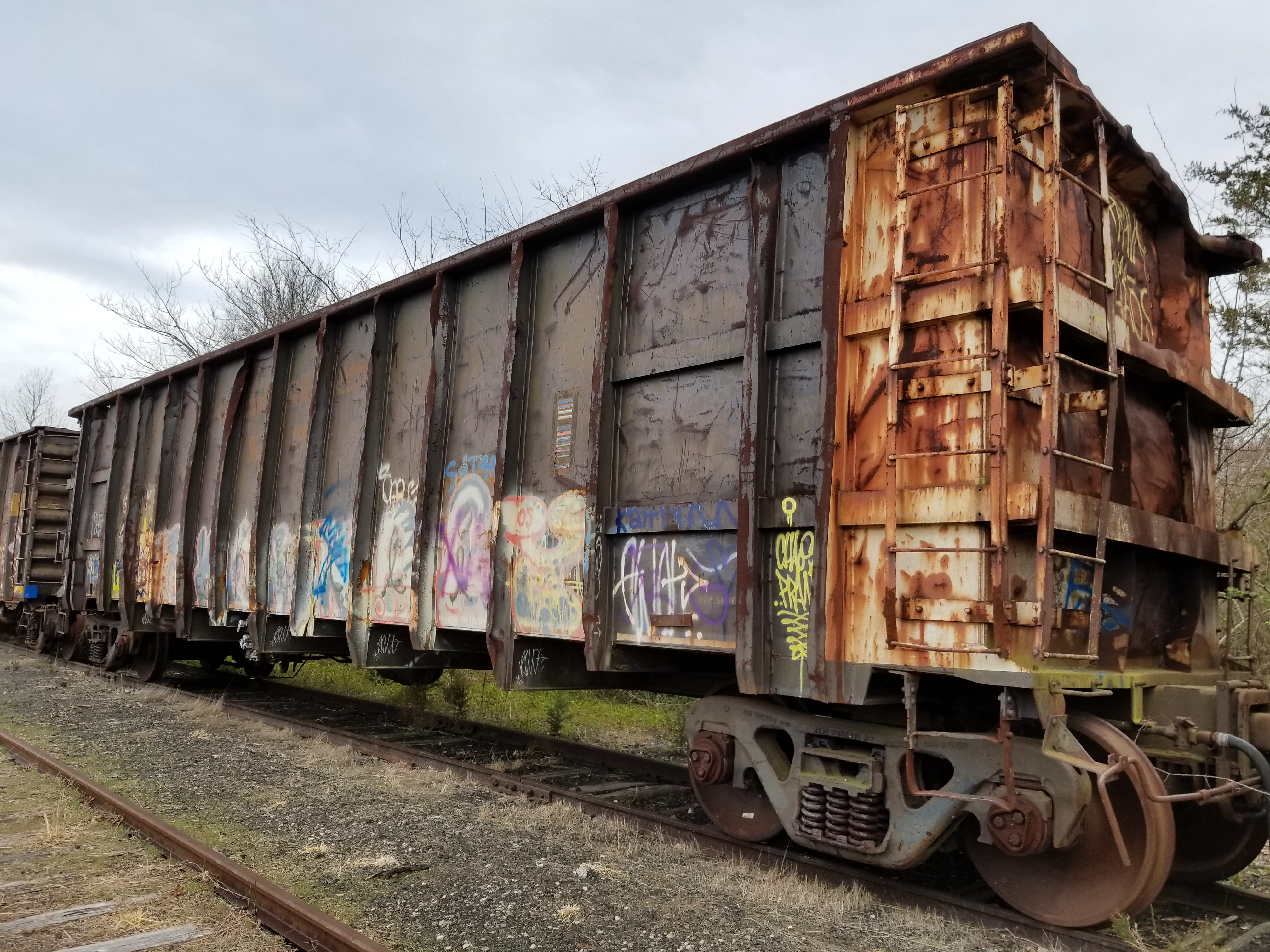 Lot 7 - LOT 7- (X 5) HIGH-SIDED GONDOLA RAIL CARS (CAPE MAY, NJ) (7-1) SRXX 4174 HIGH-SIDED GONDOLA RAIL