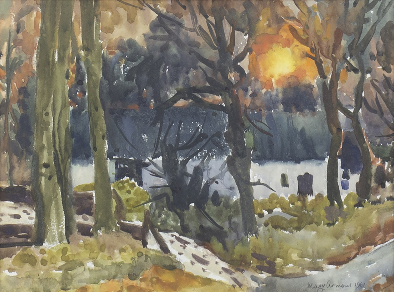 Lot 419 - RENFREWSHIRE FARM, A WATERCOLOUR BY MARY ARMOUR
