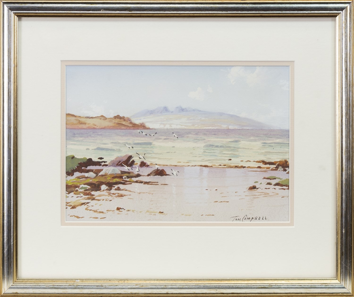 Lot 459 - IONA, A WATERCOLOUR BY TOM CAMPBELL