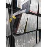 LOT: (72) 45 in. x 34 in. Aluminum Silk Screen Frames, with Metro Rack