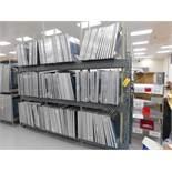 LOT: (180) 24 in. x 31 in. Aluminum Silk Screen Frames, with Steel Rack