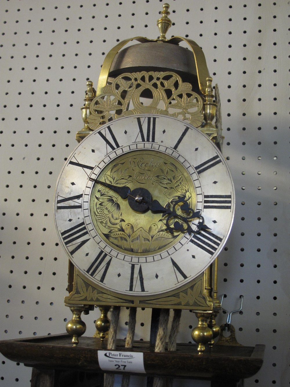 17TH CENTURY STYLE BRASS LANTERN CLOCK t - Image 2 of 5