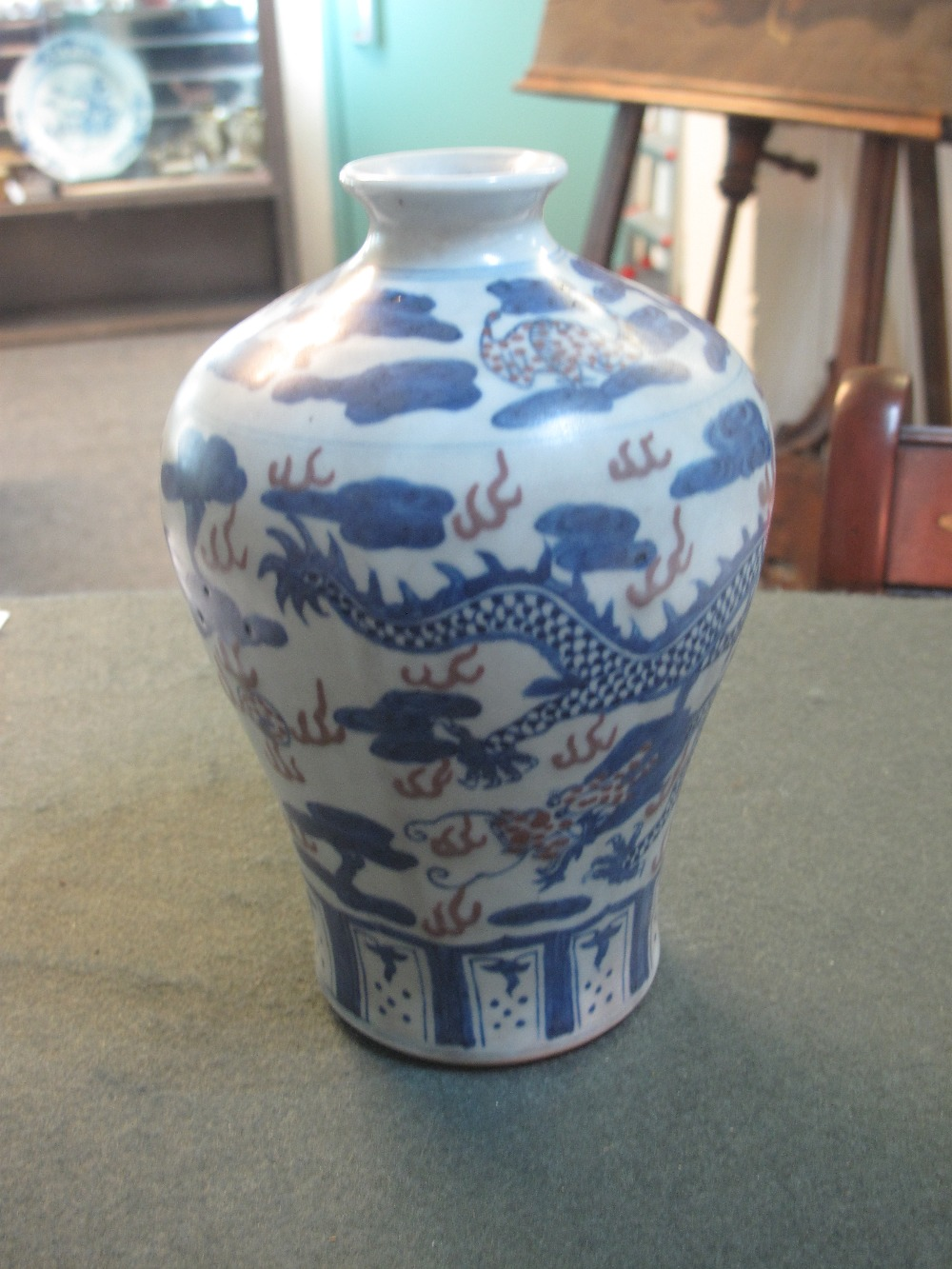 Lot 436 - CHINESE PORCELAIN MEIPING SHAPE VASE ove
