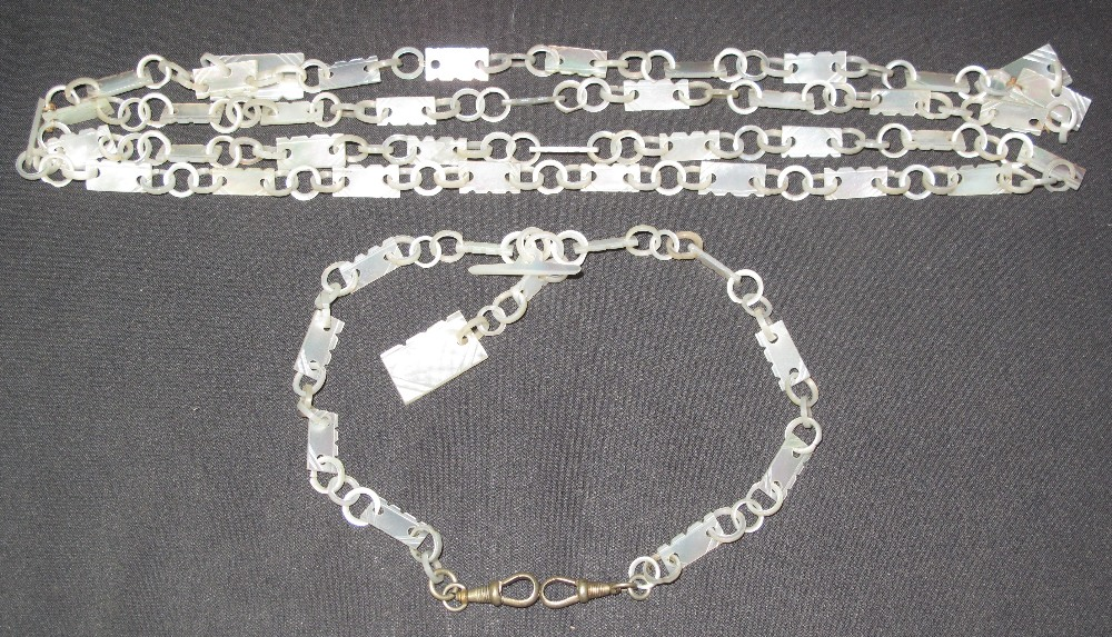 Lot 317 - UNUSUAL AND WELL MADE MOTHER-OF-PEARL PA
