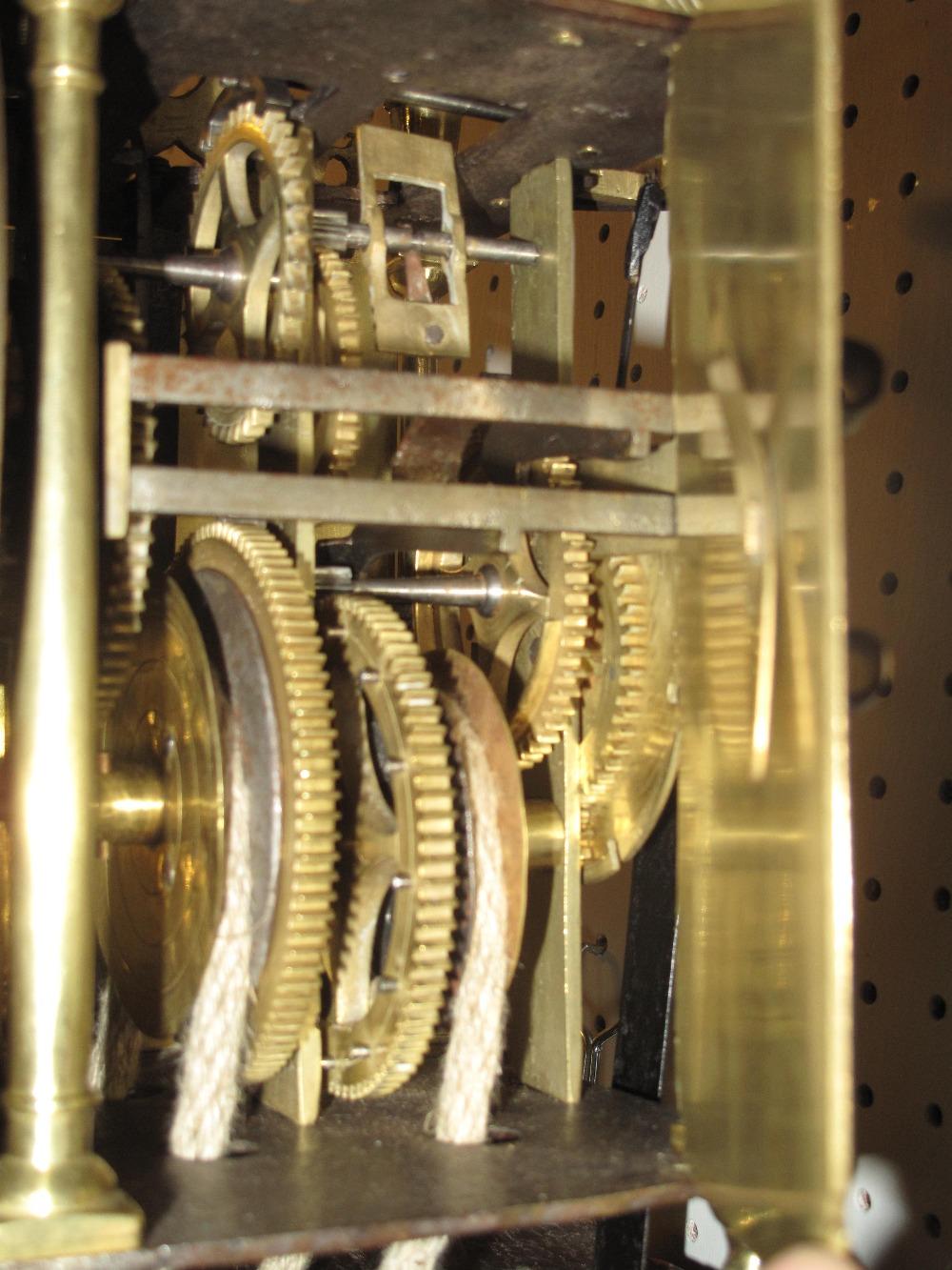 17TH CENTURY STYLE BRASS LANTERN CLOCK t - Image 5 of 5
