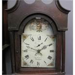 EARLY 19TH CENTURY OAK CASED 30HR COTTAGE LONGCASE CLOCK marked J.
