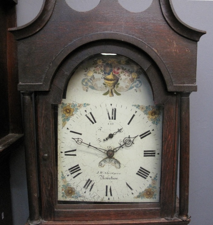 Lot 25 - EARLY 19TH CENTURY OAK CASED 30HR COTTAGE LONGCASE CLOCK marked J.