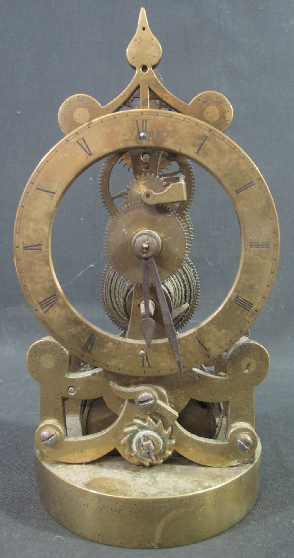 Lot 5 - SMALL 19TH CENTURY BRASS SINGLE FUSEE SK