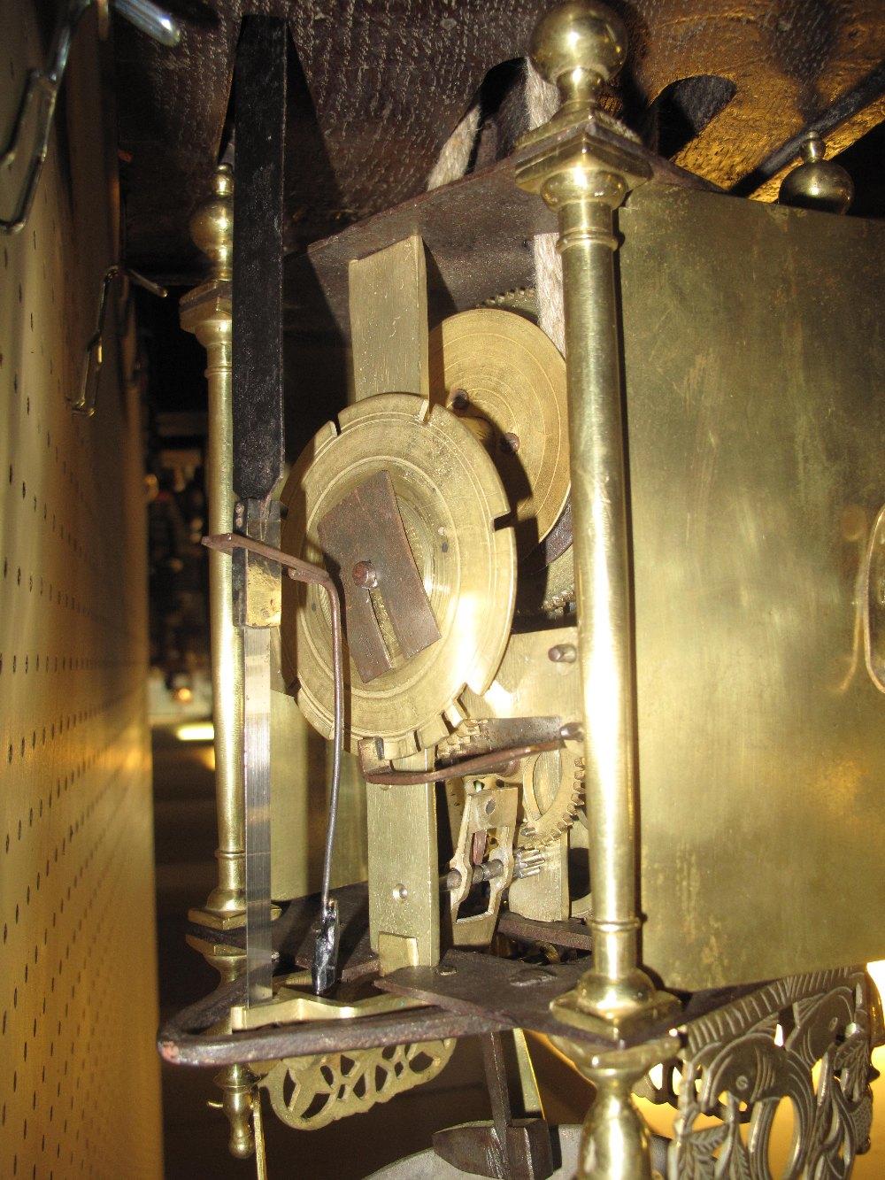 17TH CENTURY STYLE BRASS LANTERN CLOCK t - Image 3 of 5