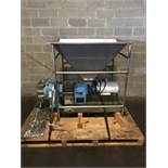 WCB Positive Displacement Pump, Model 224-U1, with Funnel, Mounted on S/S Skids, U1 224, 316LSS