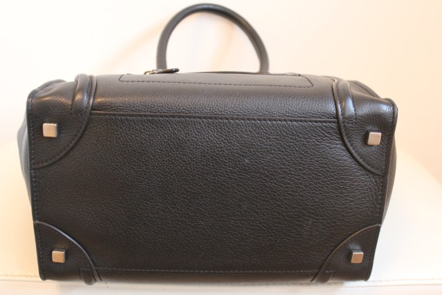 Lot 19 - CELINE Mini Luggage Tote - Black with Silver hardware - RRP £2450