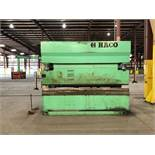 300 Ton x 12' Haco CNC Hydraulic Press Brake (1998), Model PPM36300, ATL 550 Control, Back Guage,