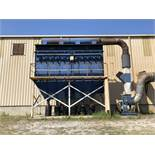 Rodrigue Metal 60 HP Dust Collector, Model MB24, Holds 55 Cartridge Filters, Dimensions: 21' L to R,