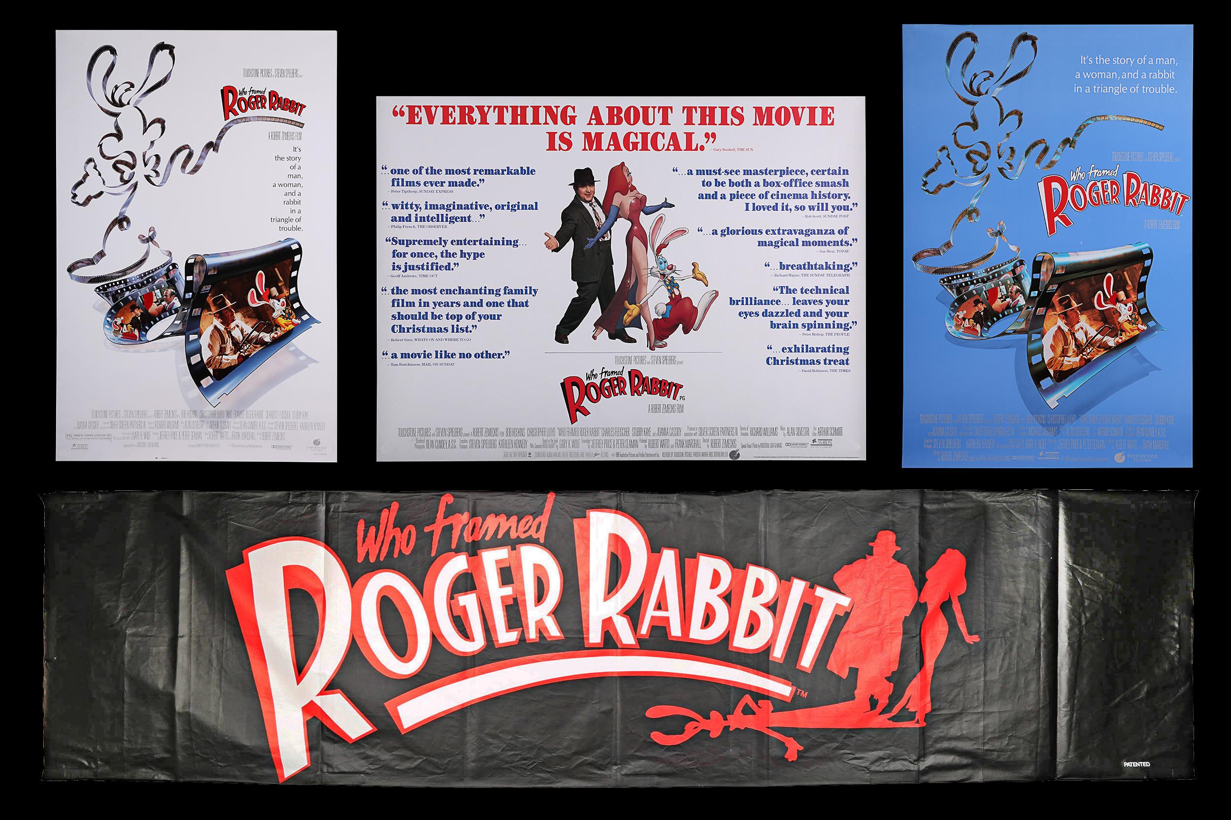 Artist Dayna Stedry Etc Three Posters For Who Framed Roger Rabbit 1988 Uk Quad Poster Re