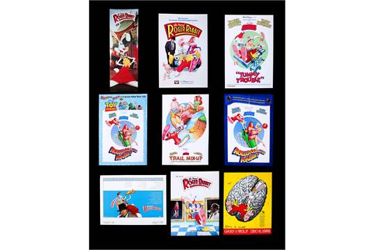 Artist Unknown Artist Nine Us Assorted Posters For Who Framed Roger Rabbit 1988 89 Includ
