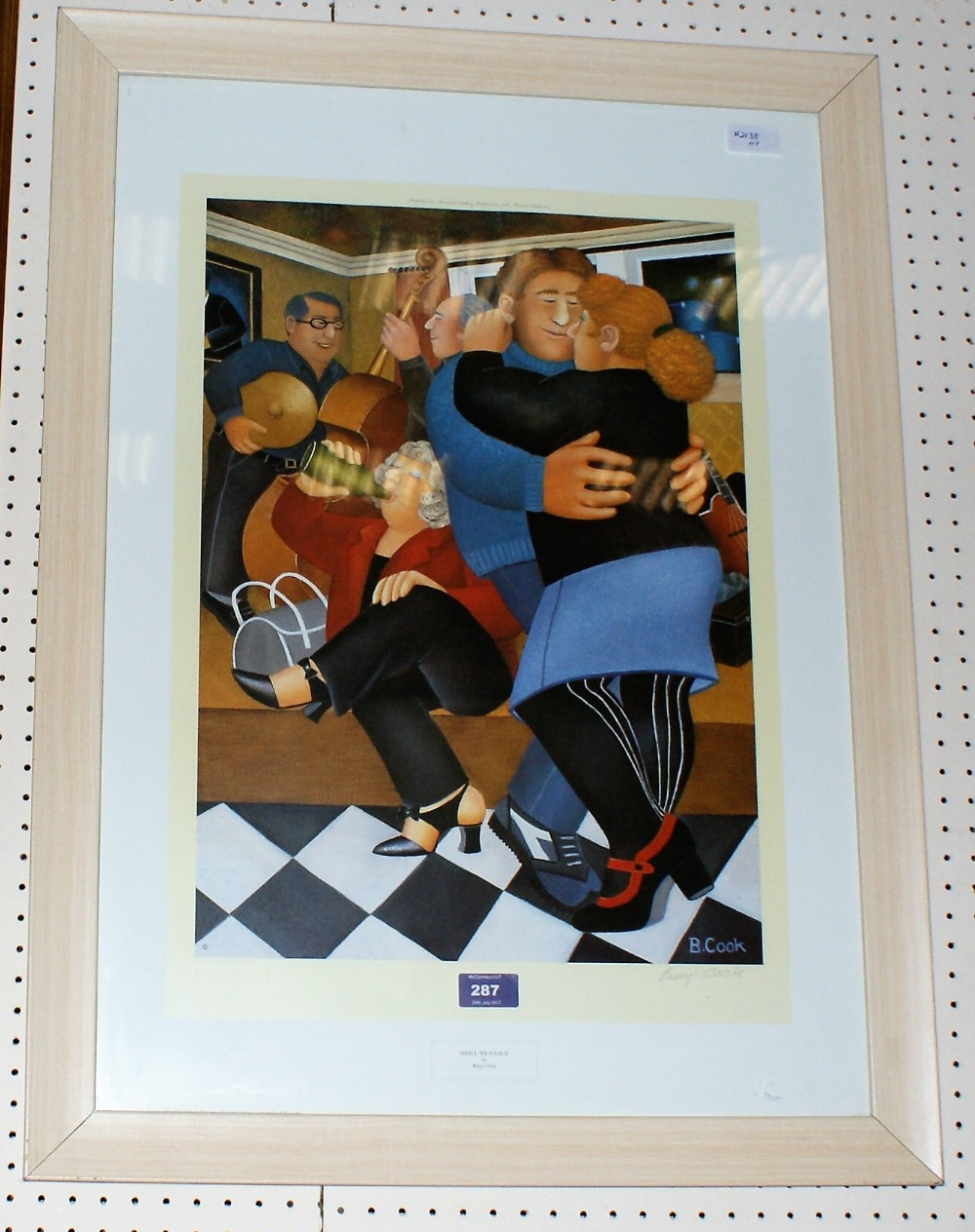 BERYL COOK Line Dancing Limited Edition 48/395 Unframed