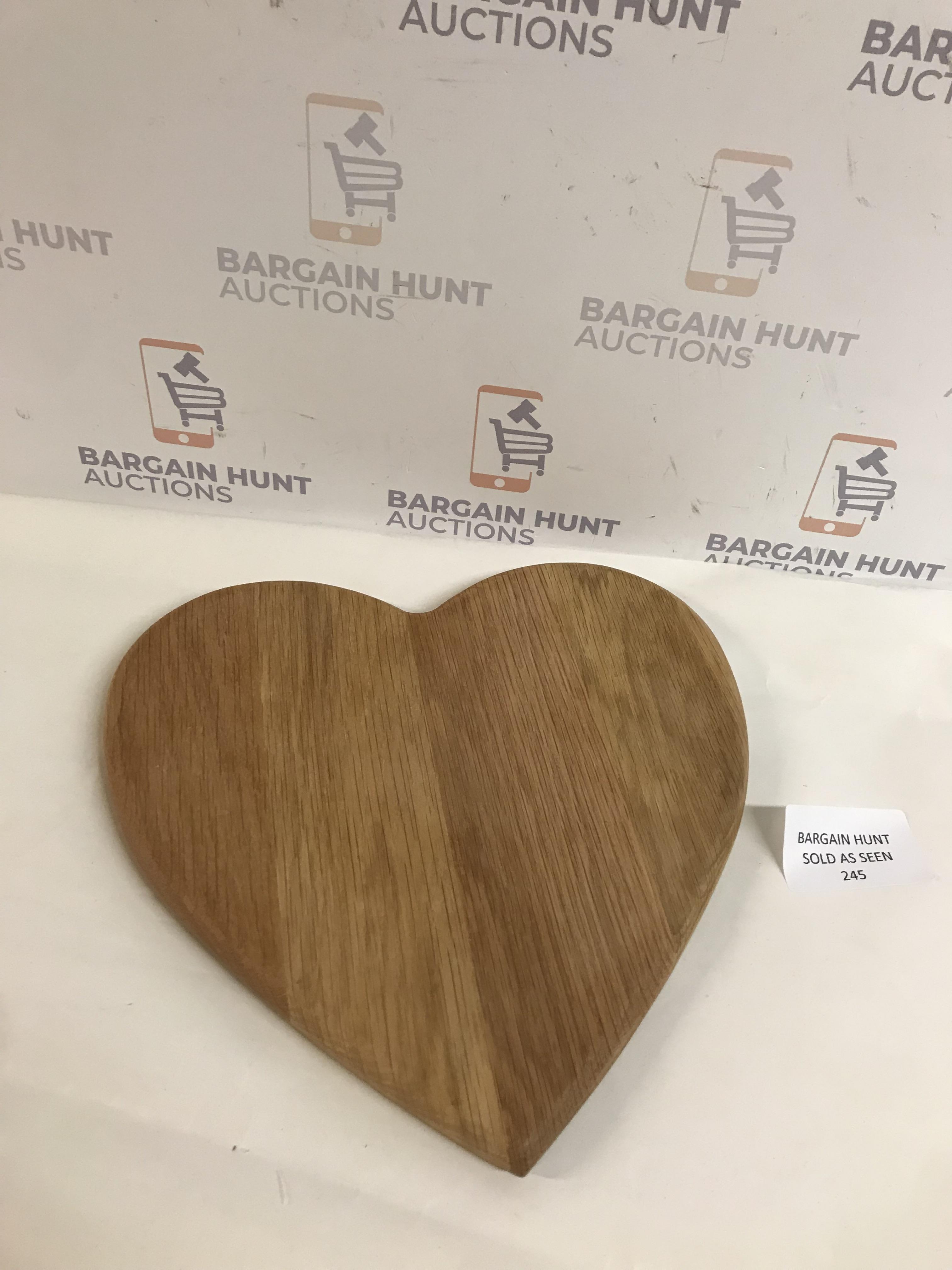 Lot 245 - Heart Shaped Chopping Board
