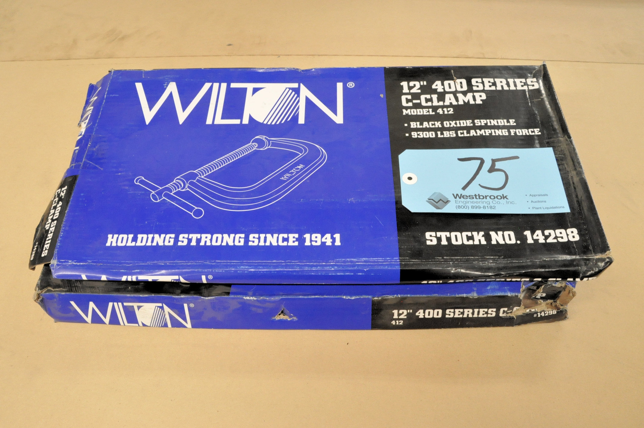 """Lot-(2) Wilton No. 412, 12"""" C-Clamps, (Packaged)"""