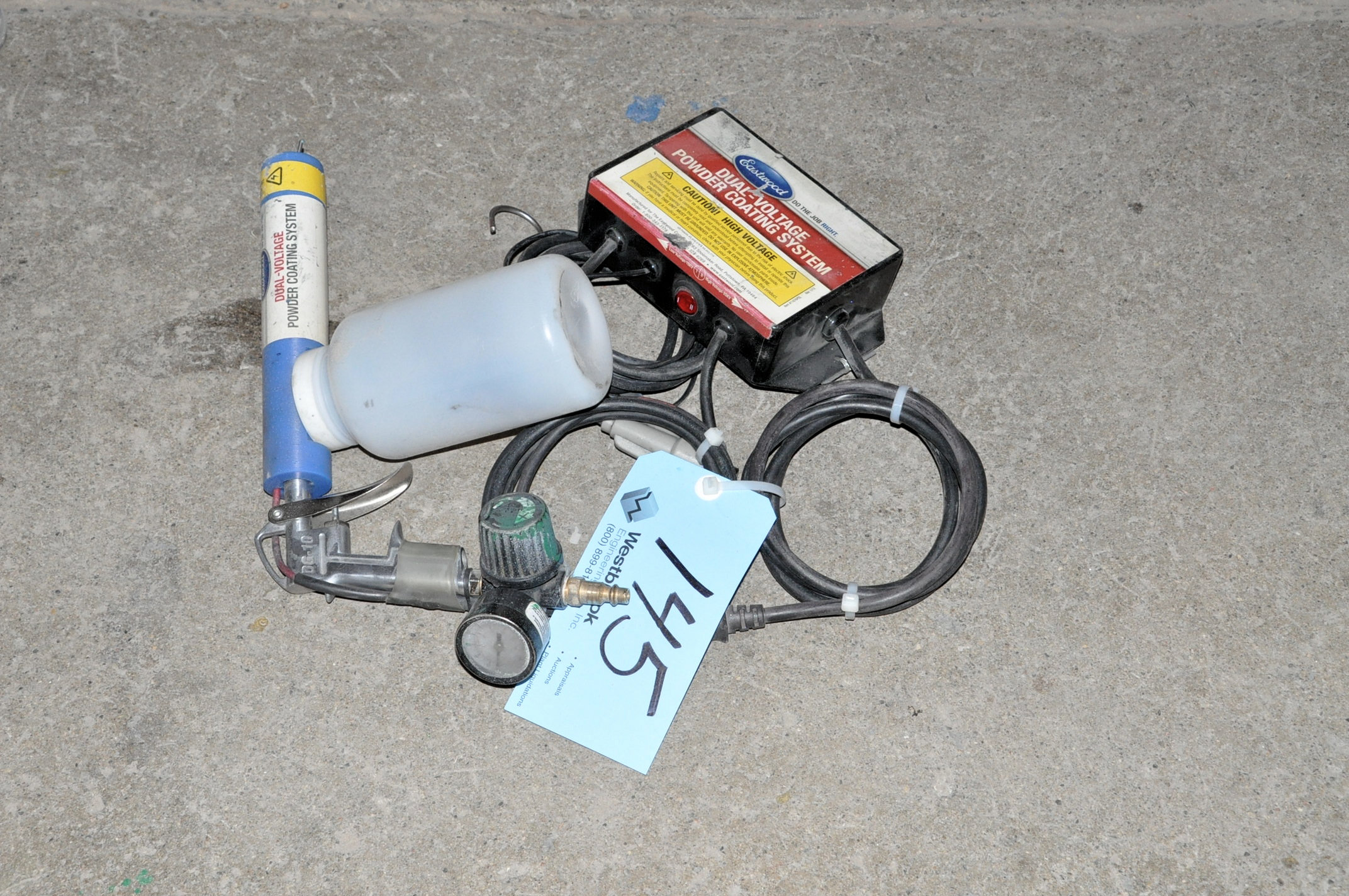 Eastwood Dual-Voltage Powder Coating Spray Gun System