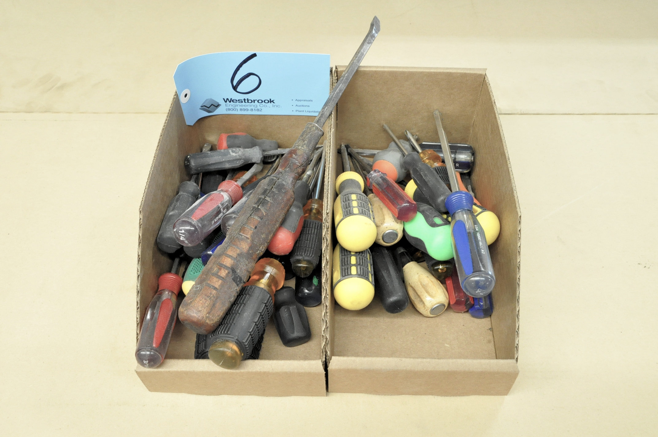 Lot-Slotted and Phillips Screwdrivers in (2) Boxes