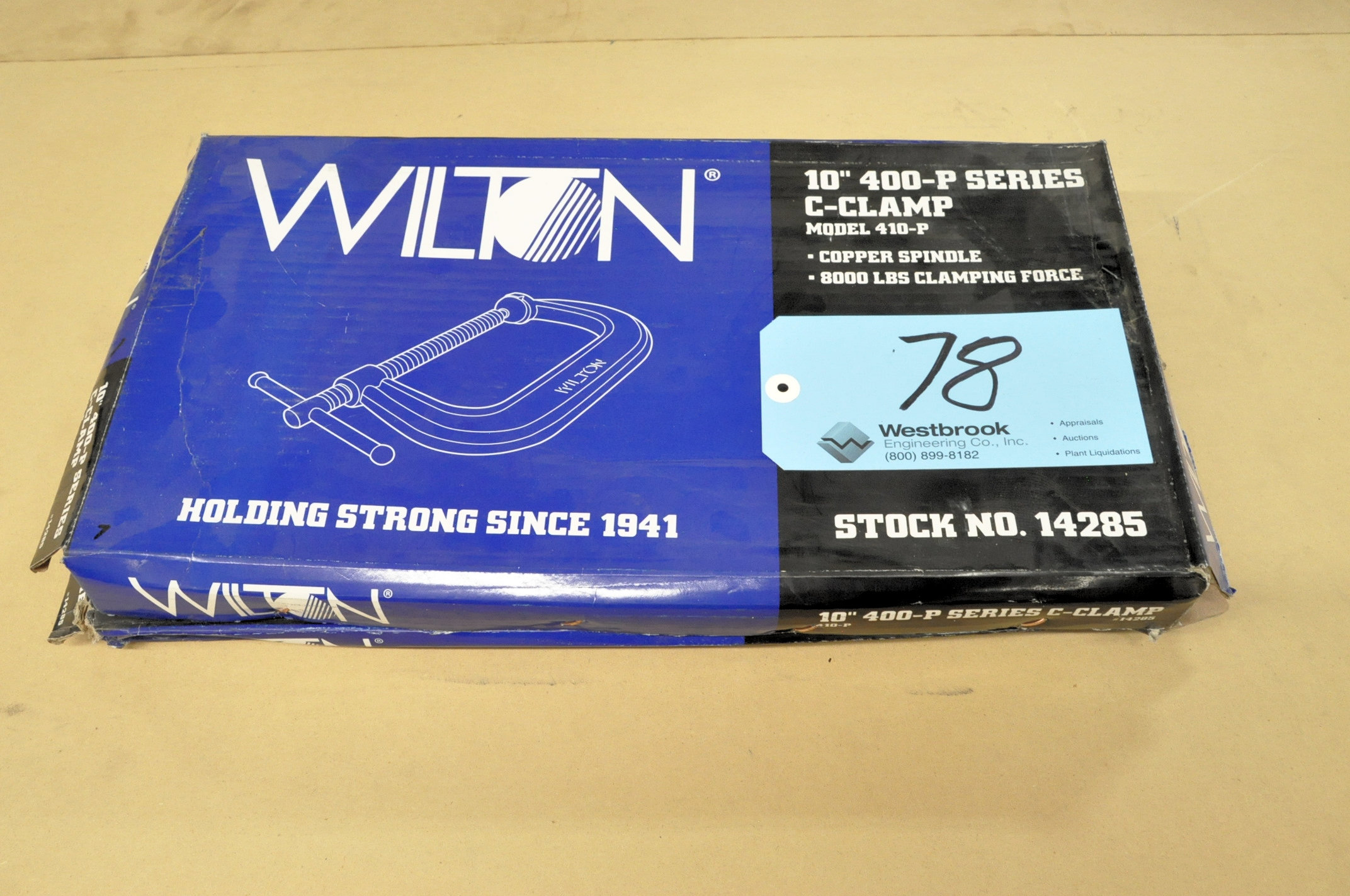 "Lot-(2) Wilton No, 410-P, 10"" C-Clamps, (Packaged)"